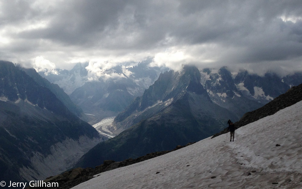 Ominous clouds over Mt Blanc.