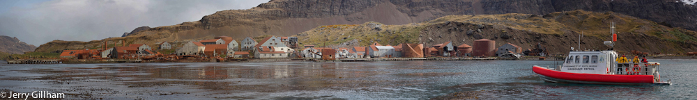One of the tasks we had in March / April was supporting a party doing asbestos and oil assessments of the old whaling stations at Husvik, Stromness and, pictured here, the largest one at Leith. These sites are fascinating but prohibitively unsafe so we're not allowed to get much closer than this.