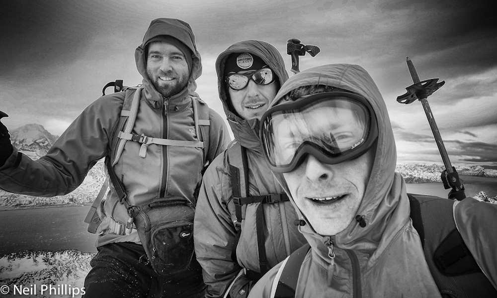 Quick summit selfie. Neil's photo.