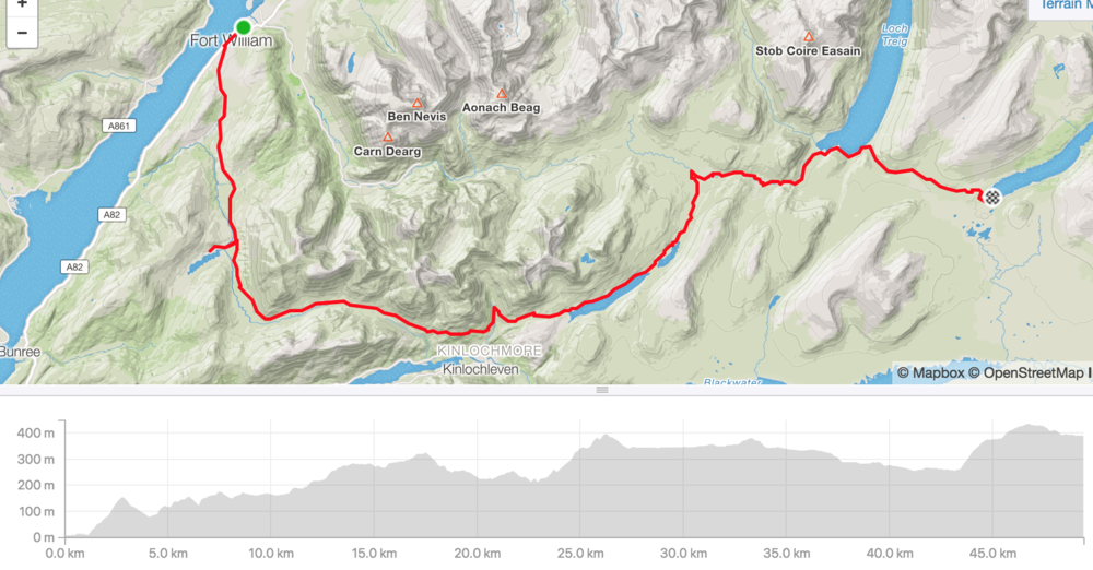 Distance: 49.4km, ascent 1,070m