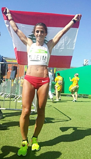 Chirine at the Olympics in Rio (photo courtesy of Chirine Njeim)