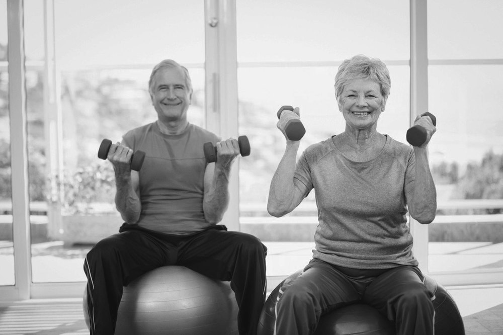 Seniors Exercising At Be Fit Personal Trainers
