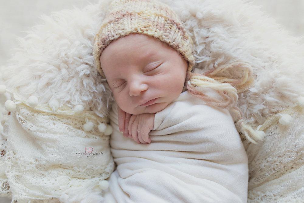 Baby in a bonnet