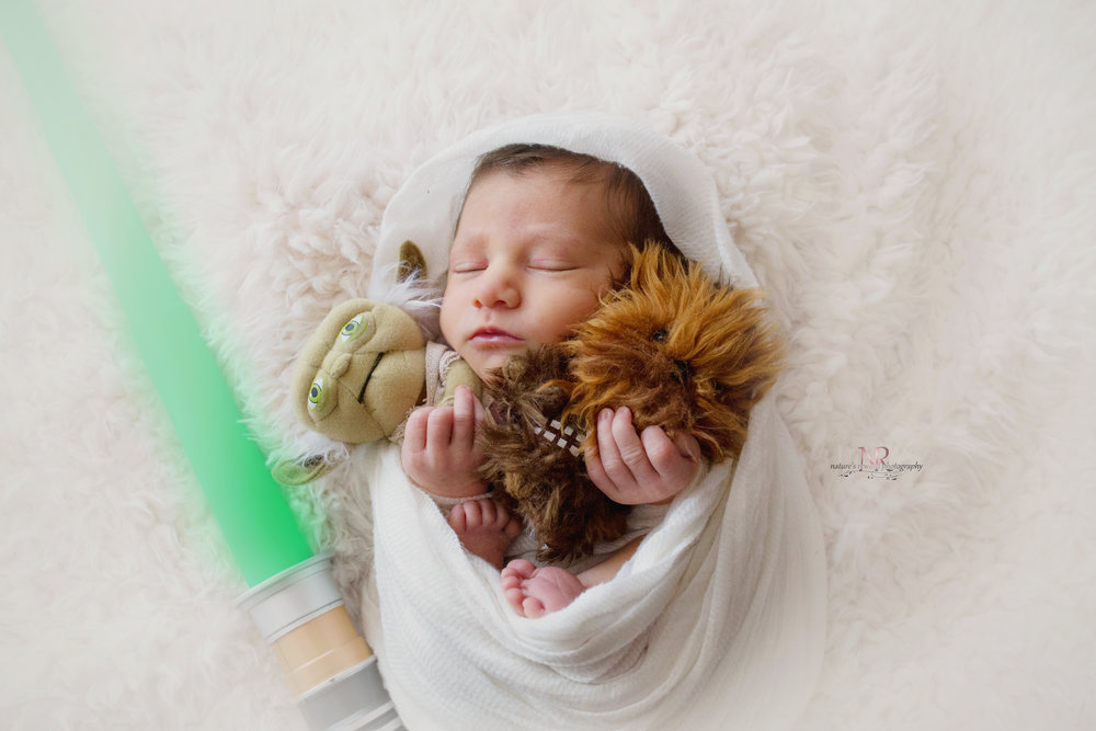 A jedi is born. The force is strong in this one. Babies bought from Target.