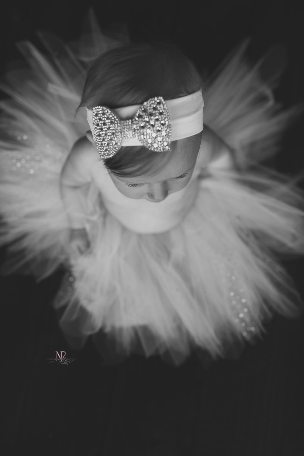 The Details!  The headband, the bangs, the eyelashes, the tutu  flare!