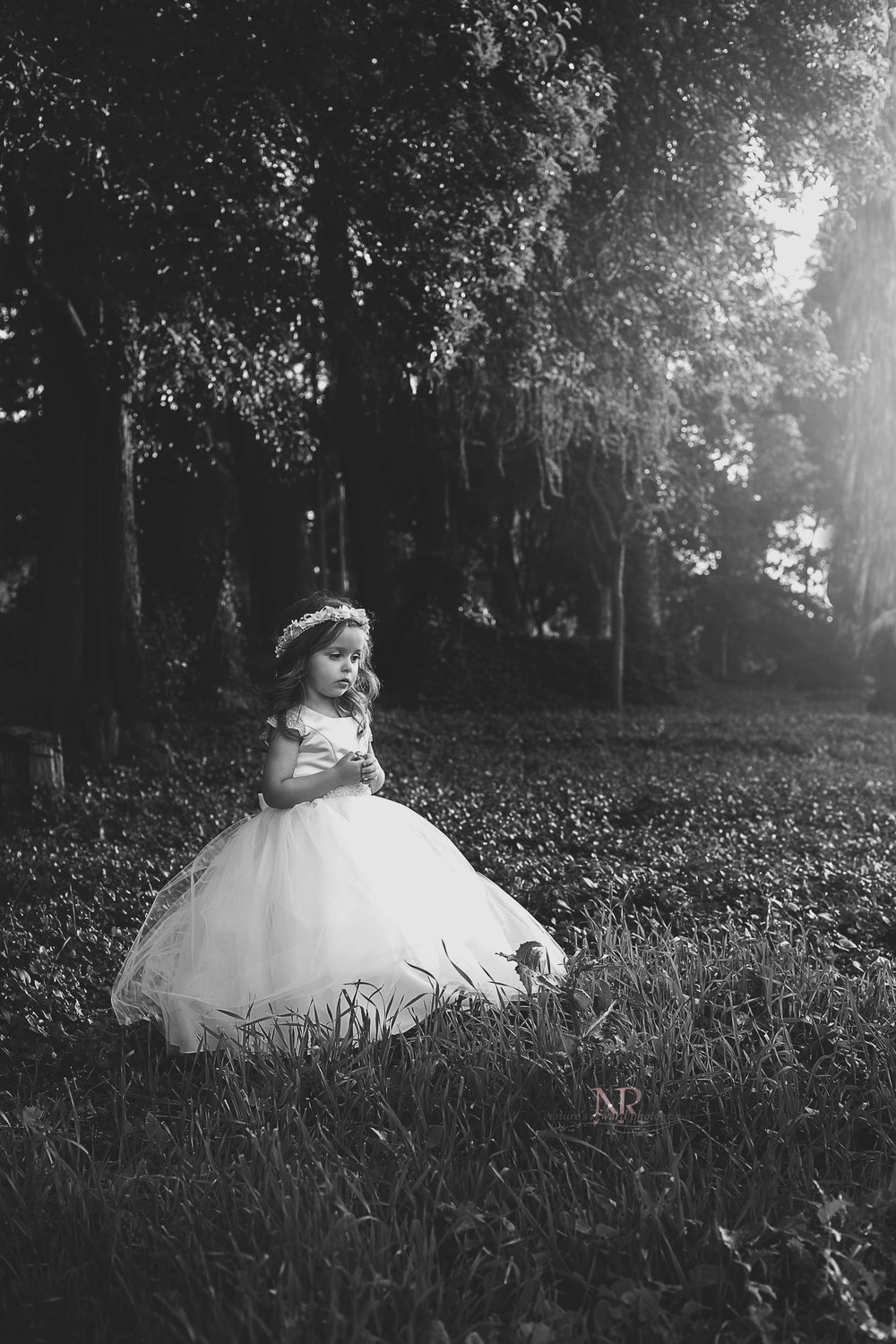 See how she is now the cake and nature has become just the icing.  I adore this black and white so much!