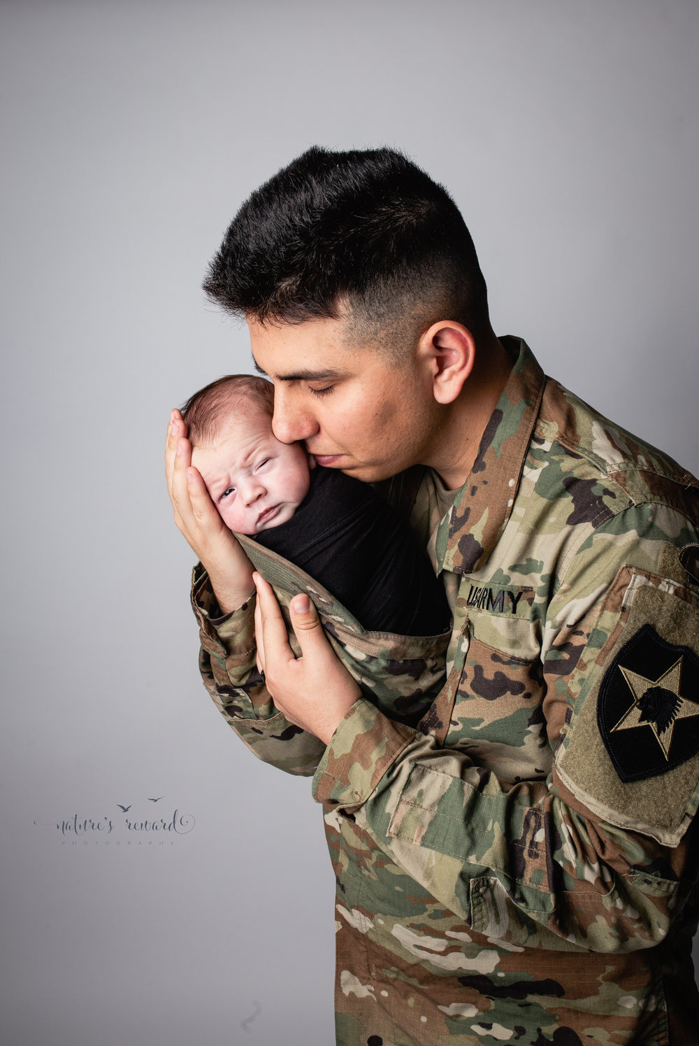 Daddy and son in this portrait by Nature's Reward Photography