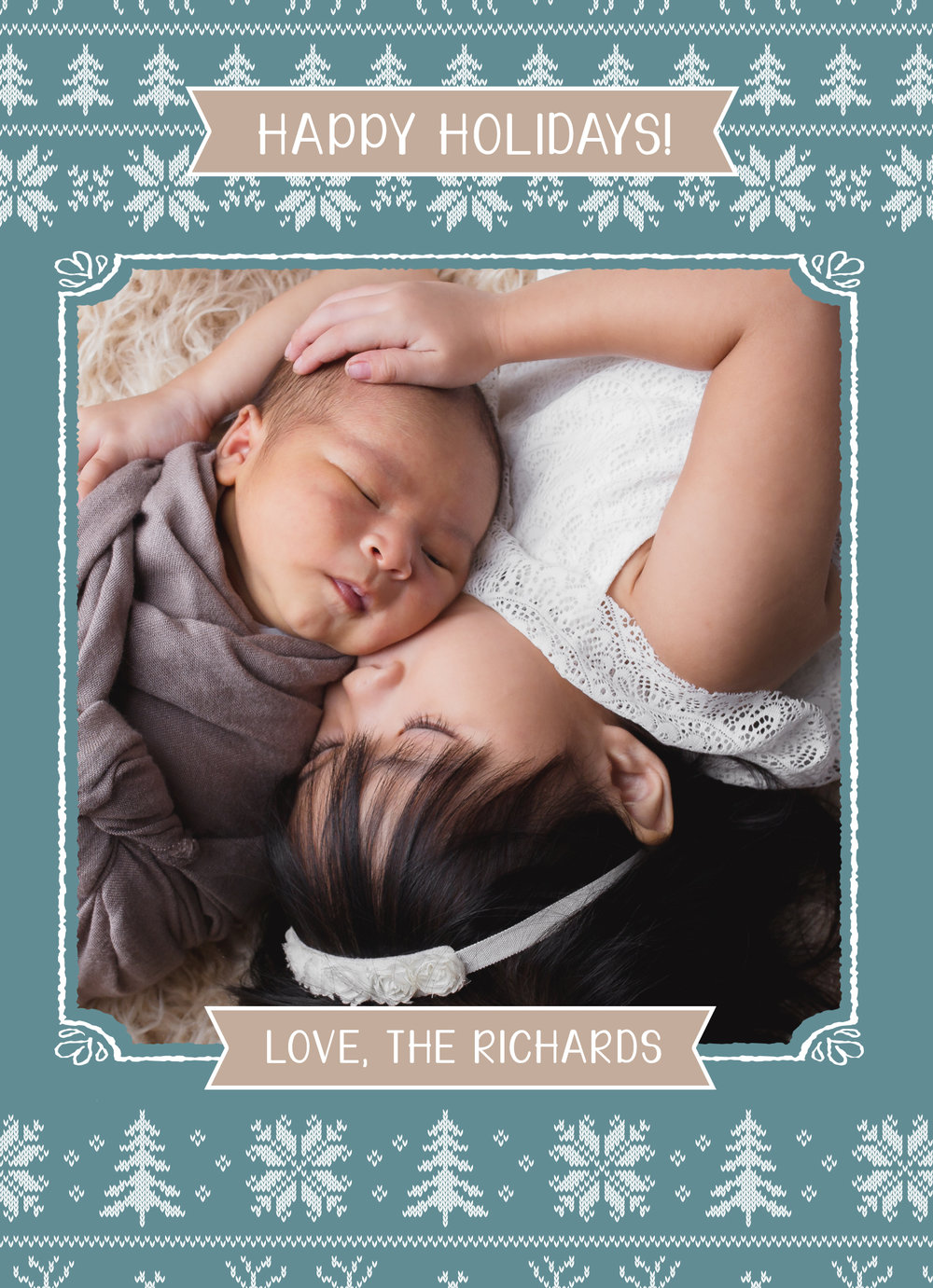 This gorgeous card makes me wish for that warm sweater! Love the sibling Portrait and the custom color banner which brings this card together