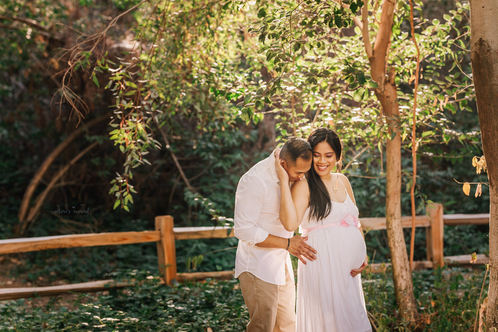 Lots of light in they lovely maternity portrait by Nature's Reward Photography
