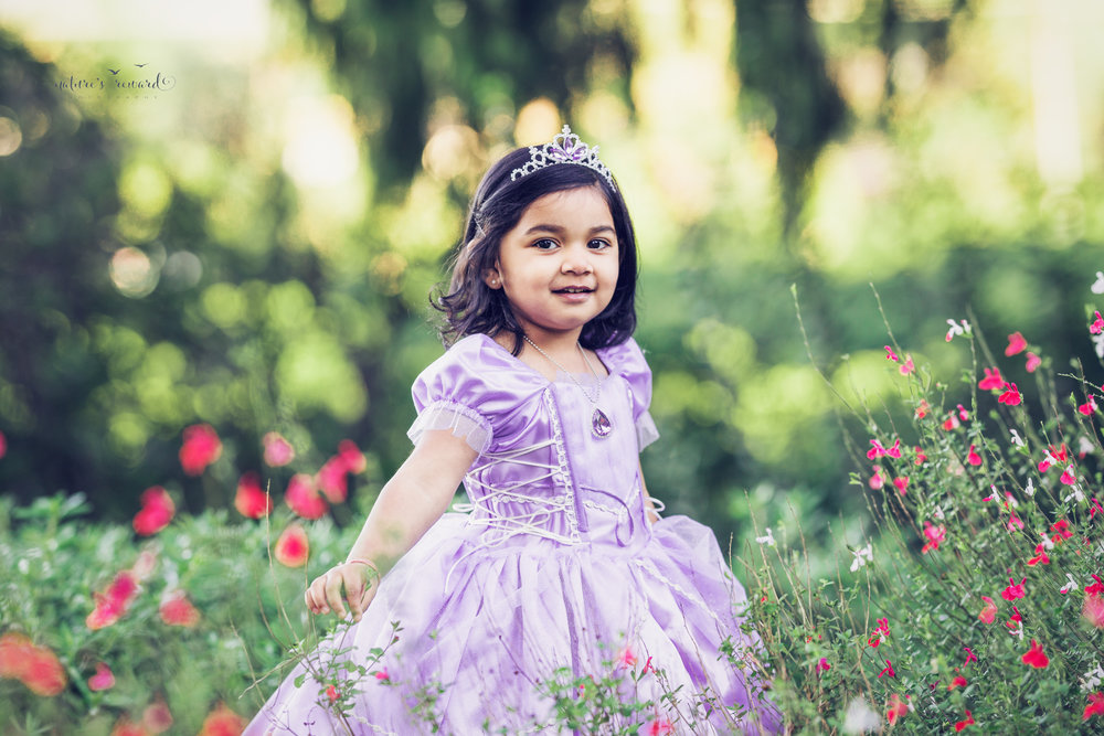 Inspired by Disney's Sophia the First Cartoon, this little one is a princess for her 3rd birthday session! A Portrait By Nature's Reward Photography