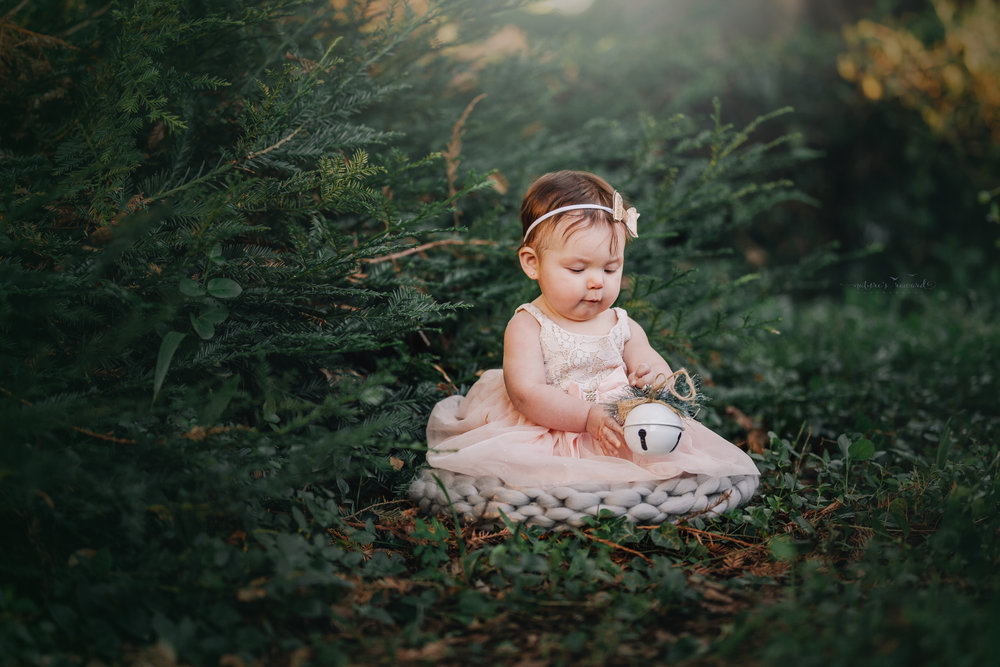 6 month old little girl during her sitter session portrait session by Nature's Reward Photography