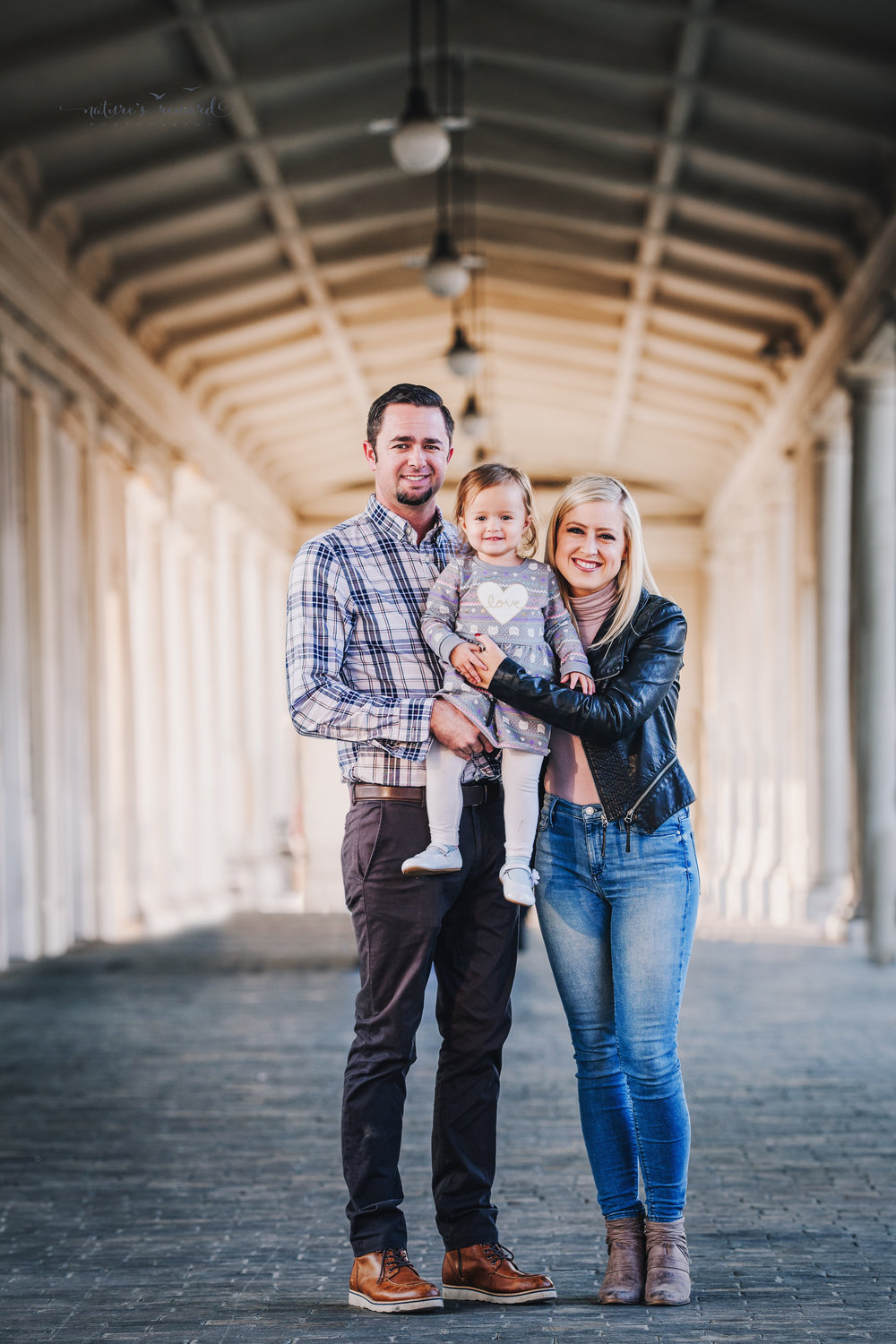 Gorgeous downtown family portrait by Nature's Reward Photography