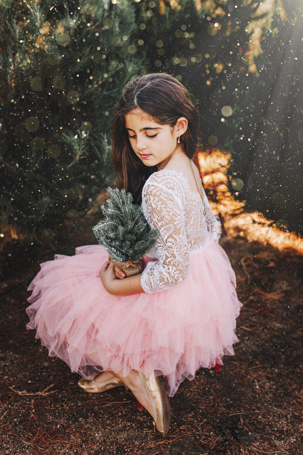 Gorgeous young lady - A Christmas tree farm portrait by Nature's Reward Photography