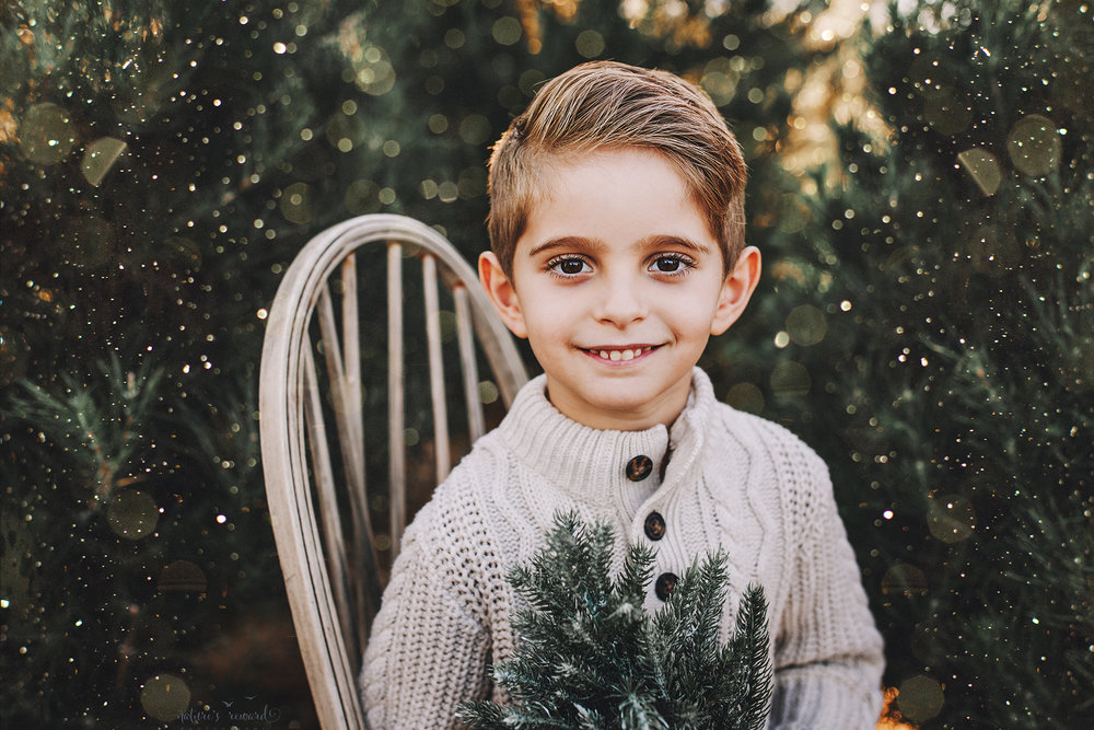 Stunning young man- A Christmas tree farm portrait by Nature's Reward Photography