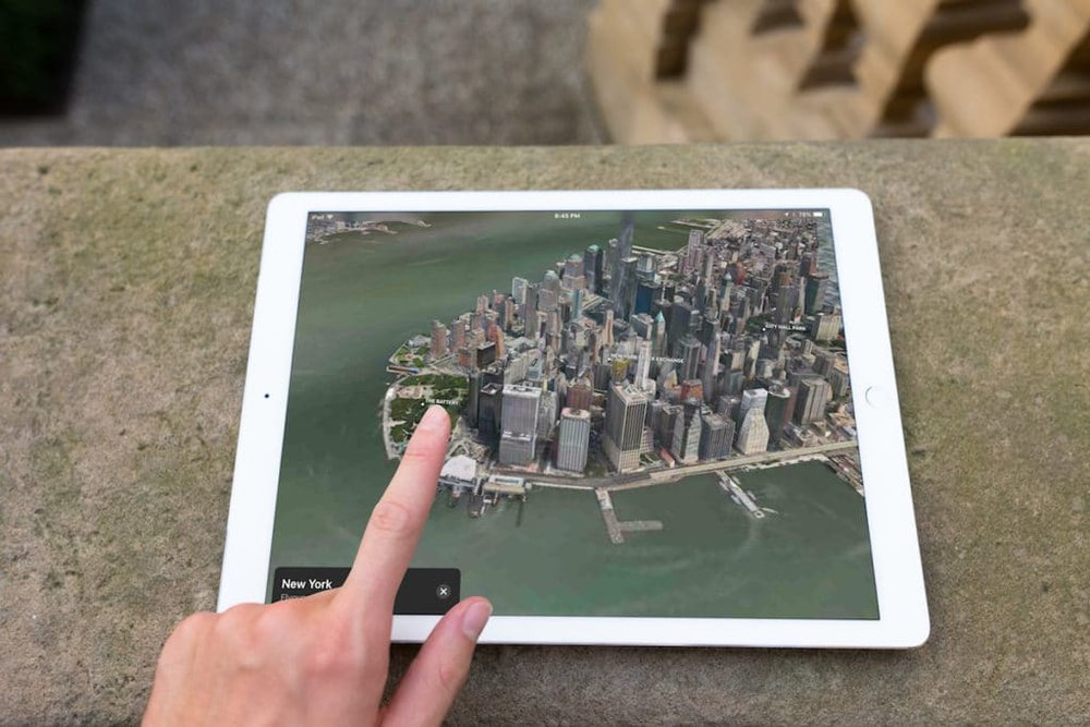 An ARKit demo that features a flyover map application.
