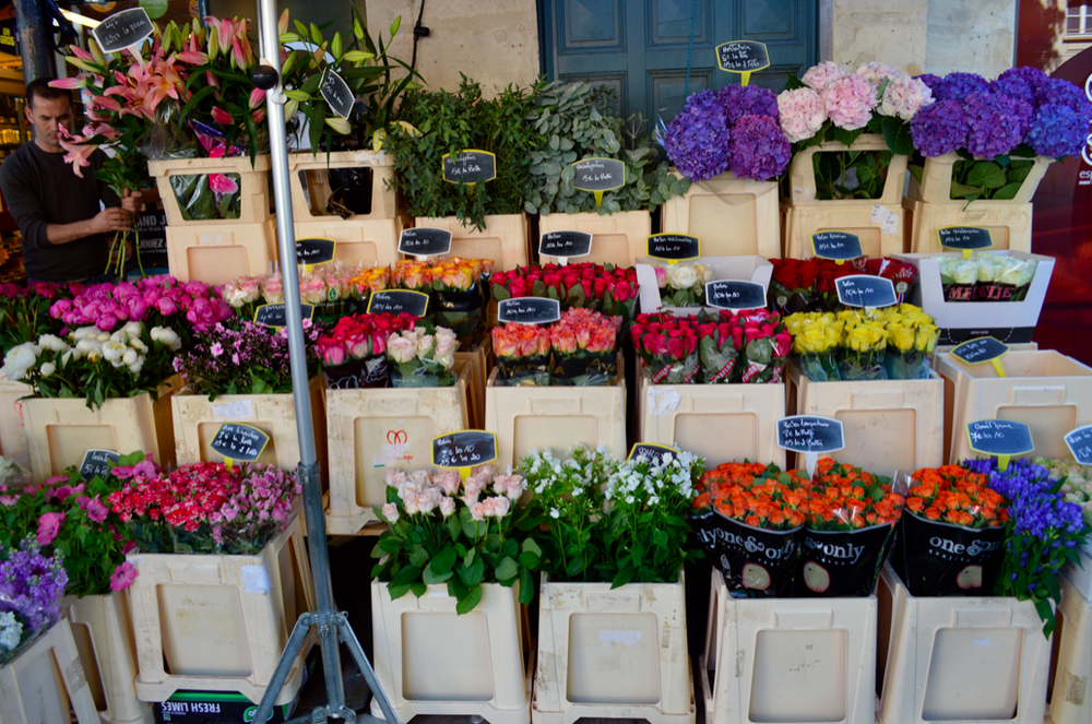 Another favorite of mine in Paris, the flower markets.