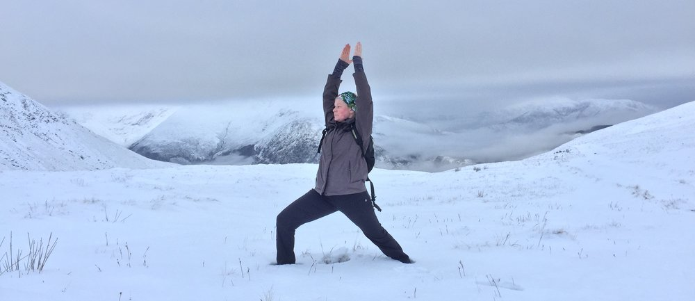 Warrior 1: snow and mountain optional!