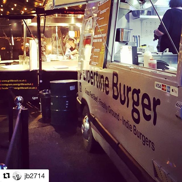 Great shot of the #libertinevan1 in action last night at @digbethdiningclub ✌🏾🍔👍🏻 #Repost @jb2714 with @get_repost ・・・ Friday chill @libertineburger @digbethdiningclub #newfavplace