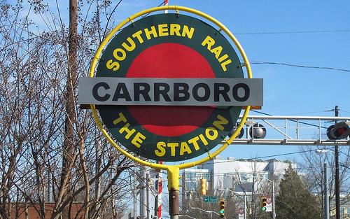 Station - Carrboro - SRail sign.jpg