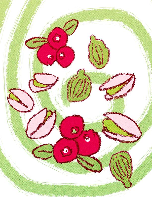 Cranberry, Pistacchio, Cardamom