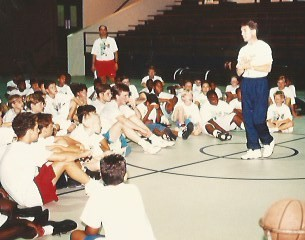 Coaching at Pistol Pete Maravich Basketball Camps
