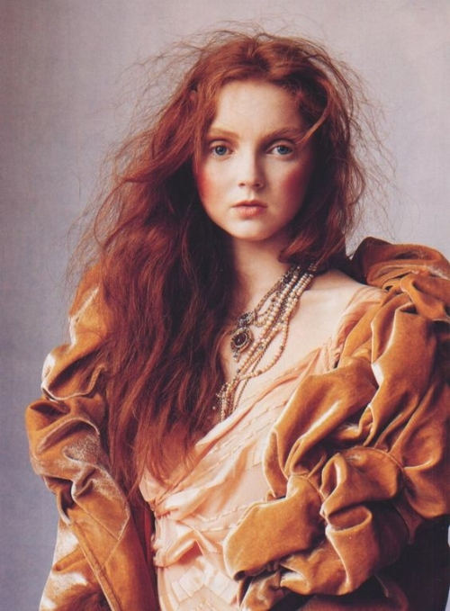 Lily Cole by Irving Penn for Vogue US