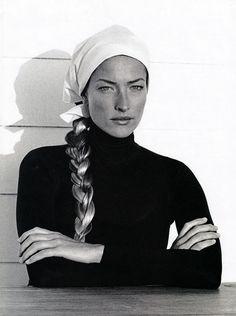 Tatjana Patitz, Thierry Le Goues, Harpers Bazaar US, August, 1993