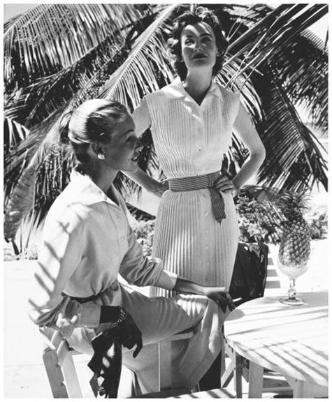 wenda parkinson and liz pringle 'susan small advertisement' vogue may 1955.jpg