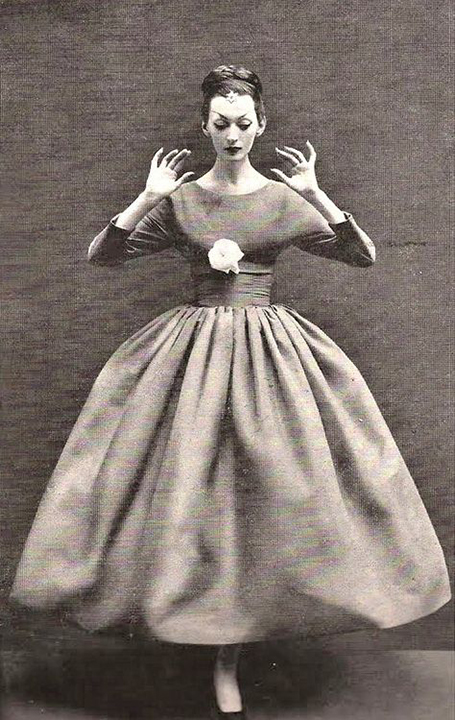 Dovina in Balenciaga, Richard Avedon, Harpers Bazaar October 1955