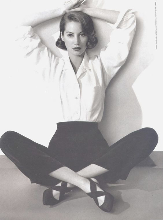 Christy Turlington, Anne Klein Footwear, American Vogue April 1992