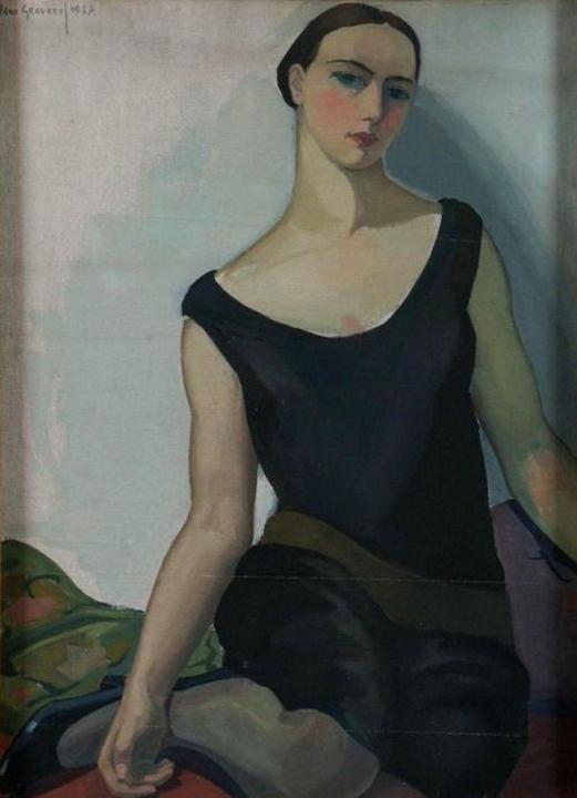 Jeune Femme Assise, Jane Graverol, 1927