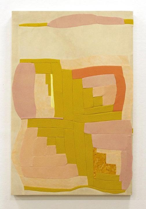 Flesh and Ochre Wrapped Quilt, Anna Buckner