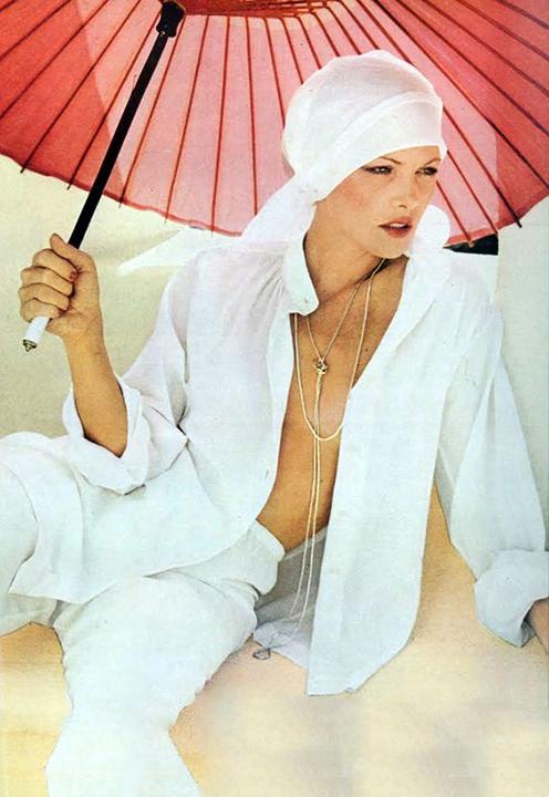 Lois Chiles, Chris Von Wangenheim, Vogue, 1973