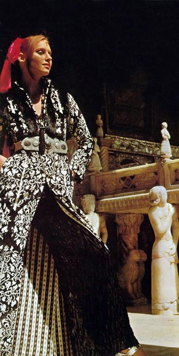 Lauren Hutton at Tehran's Golestan Palace, Iran, Henry Clarke, Vogue December 1969