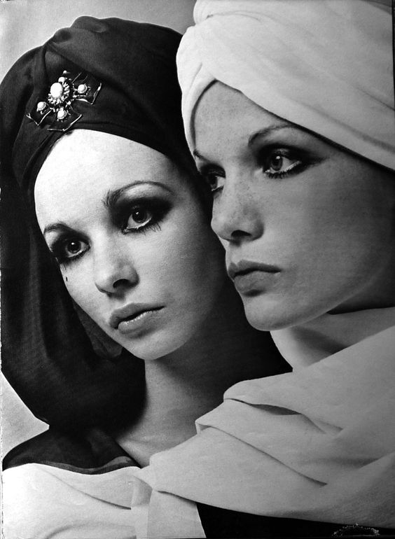 The House of Dior, Turbans, UK Vogue April 1968