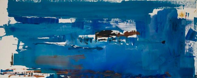 Blue Reach, Helen Frankenthaler, 1974