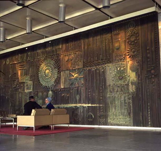Co-Operative Insurance Society, Manchester, William George Mitchell,Bronze Filled and Acid Washed Mural