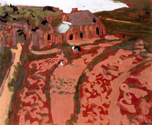 Breton Landscape Saint Jacut, Edouard Vuillard, 1909