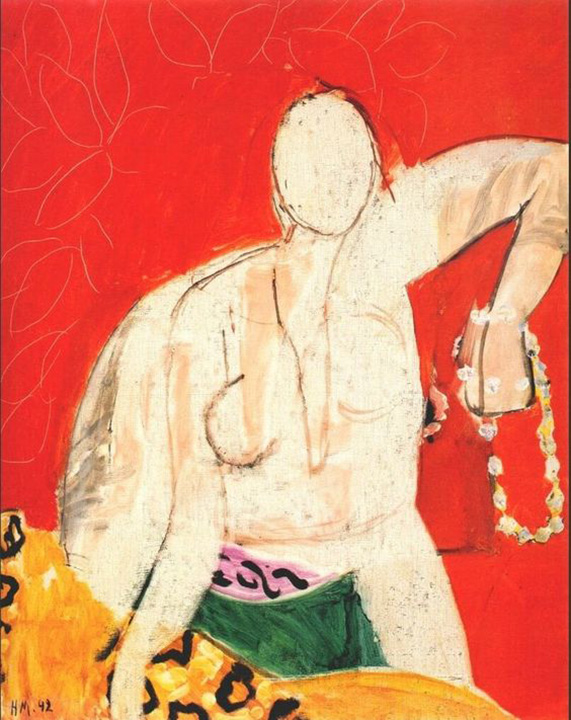 Woman with Pearl Necklace, Henri Matisse, 1942