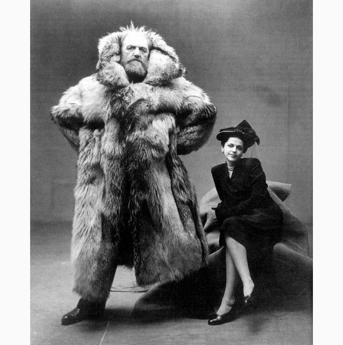 0109a Peter Freuchen arctic explorer with wife dagmar cohn  irving penn1947 .jpg