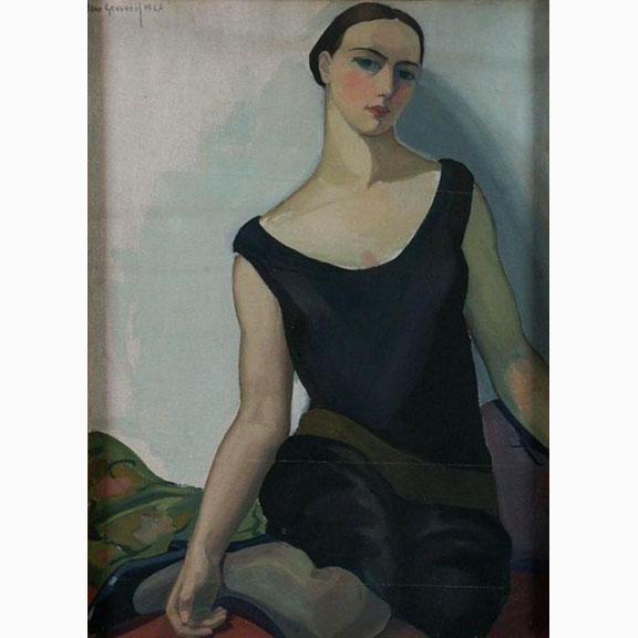 Jan Graverol, Je Une Femme Assise, 1927