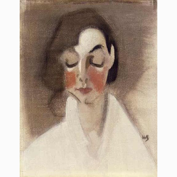 Helene Schjerfbeck, Rosy Cheeked Girl, 1927