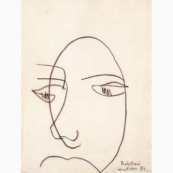 Henri Matisse, Portrait de Rabelais Nice, 1951