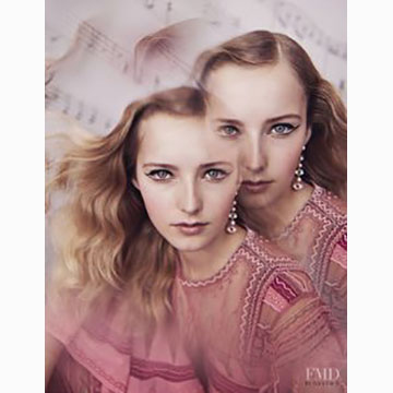 Elena Rendina, Natalie Ludwig in Valentino, My Pink Fantasy, Numbero Tokyo, March 2017