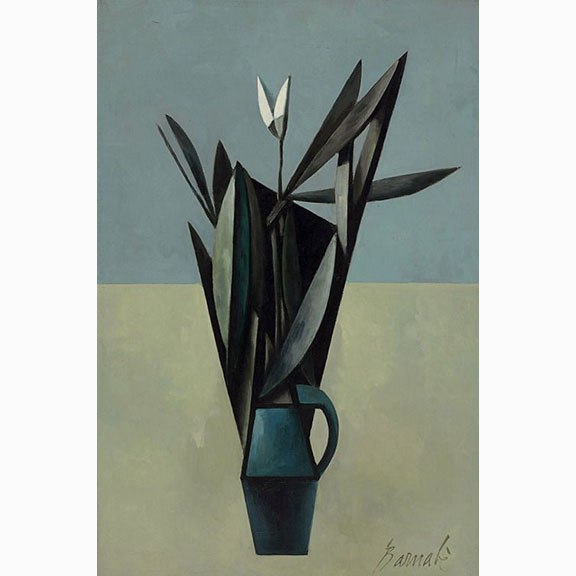 Duilio Barnabe, Vase de Fleur, Oil on Canvas