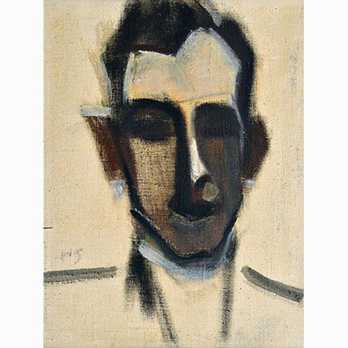 Helene Schjerfbeck, Mans, Oil on Canvas