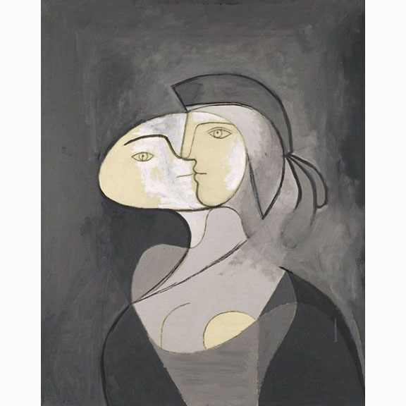 Pablo Picasso, Marie Therese Face and Profile, 1931, Oil and Charcoal on Canvas