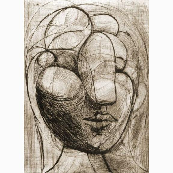 Pablo Picasso, Tete de Femme, 1933