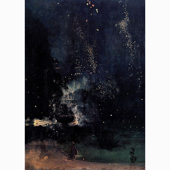 James Abbot Mcneill Whistler, Nocturne in Black and Gold - the Falling Rocket, 1875