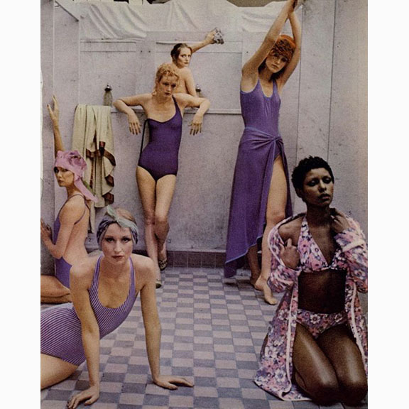Deborah Turbeville, Bathhouse, Vogue May 1975